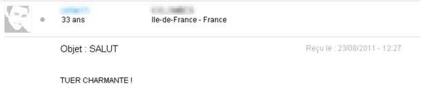 Annonce de rencontre avec email